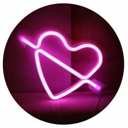 Neon Art Decorative Lights The Arrow Of Love LED Cupid Heart