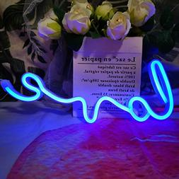 QiaoFei Neon Art Love Signs Light LED Love Kids Gift-Decorat