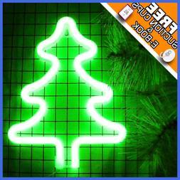 Neon Christmas Tree Light Sign Room Wall Decor LED Night Hom