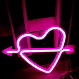 Neon Heart Signs Led Neon Lights up Sign Decorative Neon Wal