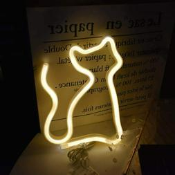 NEON Kitty Cat LED Sign Light Wall Hanging Party Decor Custo