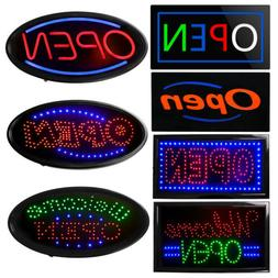 Neon LED OPEN Light Animated Motion Business Sign Flash Brig