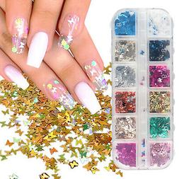 Nail Glitter Sequins Holographic Laser Butterfly Flakes Nail