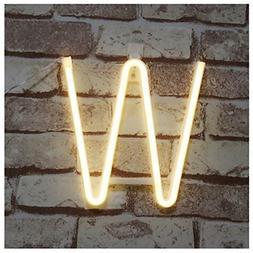 Pooqla Neon Letter Sign Night Lights LED Alphabet Neon Art L