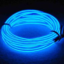 Jytrend 9ft Neon Light El Wire w/ Battery Pack - Blue
