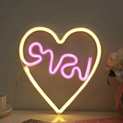 Neon Light Love in Heart Sign Night Light Cute LED Neon Sign