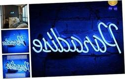 Neon Light Paradise Sign Neon Bar Signs Handmade Glass Man C