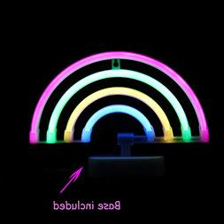 LED Neon Light Rainbow with Pink,Green,Yellow,Blue Color Wal