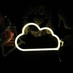 neon light sign cloud shaped