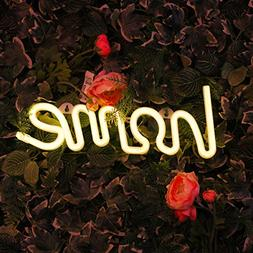 Neon Light Sign LED Home Shaped Night Light Indoor Wall Deco