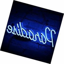 Neon Light Sign Paradise Neon Bar Sign Handmade Glass Neon S