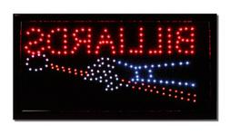 LED Neon Lighted Billiards Sign - Pool Table Sign