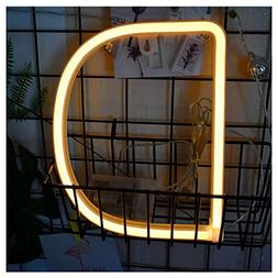 OYCBUZO Neon Lights Letters - Night Lamp Marquee LED Light u