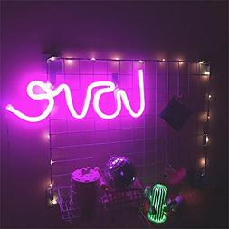 Neon Love Signs Light LED Neon Art Decorative Lights Wall De