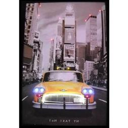 New York City NYC Taxi Neon LED poster sign Times square wal