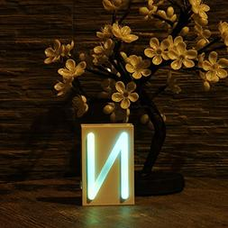 LED Letter Neon Sign, 26 Alphabet A -- Z Neon Light Signs Fo