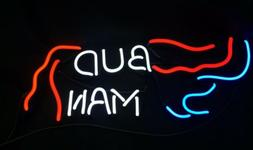 """Neon Sign Bud Man Replacement Tubes 17""""x 7"""" Letters 2"""""""