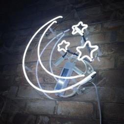 Neon Sign Light Stars & Moon Night Club Bedroom Wall Decor B