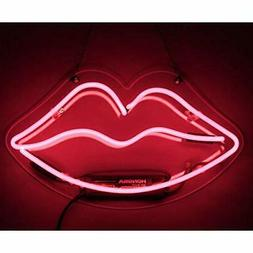 Neon Sign Lip Shaped Pink Neon Light Neon Bar Signs for Girl