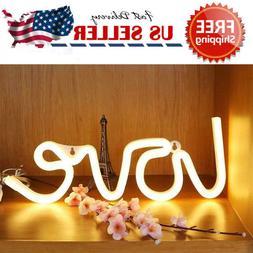 Neon Sign LOVE LED Light Artwork Bar Lamp Home Party Room Li