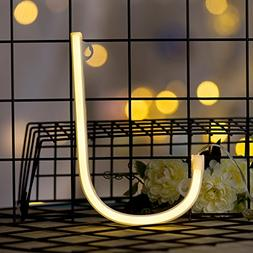 DELICORE Neon Letter Sign Night Lights LED Alphabet Neon Art
