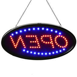 LED Sign Open, AGPtek 19x10inch LED Business Open Sign Adver