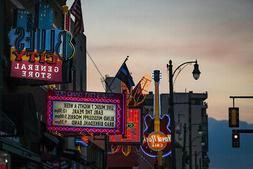 Neon Signs on Beale Street Memphis Tennessee Photo Art Print