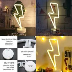 neon signs lightning bolt battery operated