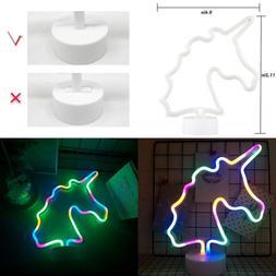 Neon Unicorn Indoor Night Light Battery/USB Operated Glowing