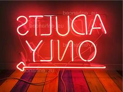 New Adults Only Pink Acrylic Neon Sign Gift Light Lamp Room