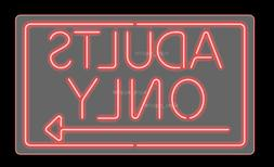 """New Adults Only Ref Acrylic Neon Sign 24"""" Artwork Poster Bed"""