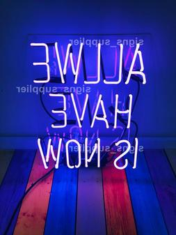 New All We Have Is Now Purple Real Glass Acrylic Neon Light