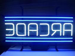 "New Arcade Blue Wall Decor Man Cave Bar Neon Light Sign 17""x"