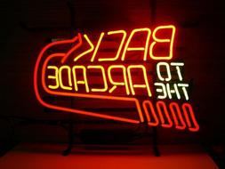 """New Back to the Arcade Neon Light Sign 20""""x16"""" Decor Lamp Ba"""