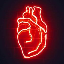 New Beating Heart Pub Decor For Bedroom Gift Acrylic Neon Si