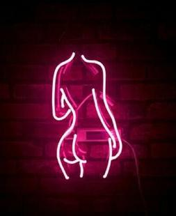 "New Beauty Back Butt Pole Girl Acrylic Neon Light Sign 14"" B"