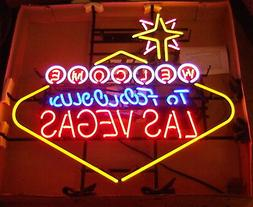 NEW BIG Welcome To Fabulous Las Vegas Neon Sign Light Neon 3