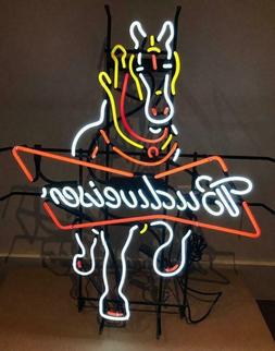 """New Budweiser Clydesdale Horse Man Cave Neon Light Sign 32""""x"""