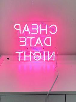 New Cheap Date Night Neon Sign Acrylic Gift Light Lamp Bar W