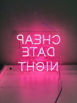 New Cheap Date Night Neon Sign Wall Decor Artwork Light Lamp