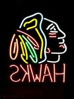 "New Chicago Blackhawks Hawks Logo Neon Sign 24""x20"""