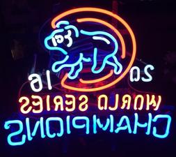 New Chicago Cubs 2016 World Series Champions Baseball Neon L