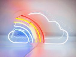 New Cloud Rainbow Neon Sign Acrylic Gift Light Lamp Bar Wall