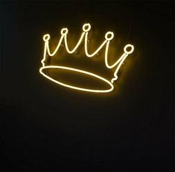 New Crown Yellow Bar Pub Wall Decor Acrylic Neon Light Sign