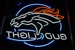 "New Denver Broncos Bud Light Neon Light Sign 24""x20"""