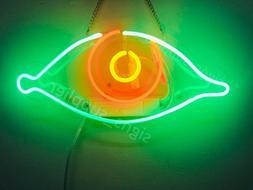 """New Eye Real Glass Bedroom Gift Acrylic Neon Light Sign 14""""x"""