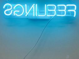 New Feelings Light Blue Neon Sign Acrylic Gift Light Lamp Ba