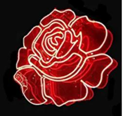 New Flower Red Rose Wall Decor Bar Pub Man Cave Neon Light S