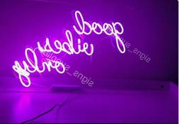 "New Good Vibes Only Neon Light Sign Acrylic 14"" Decor Poster"