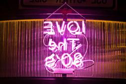 "New I Love The 80'S Bar Acrylic Neon Sign 14"" Bedroom Artwor"